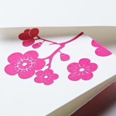 Letterpress Plum Blossom Note: In the Far East, the plum blossom symbolizes quite an impressive group of characteristics: perseverance, hope, beauty and virtue. We like to think both the sender and receiver of these letterpress notes posses them as well.