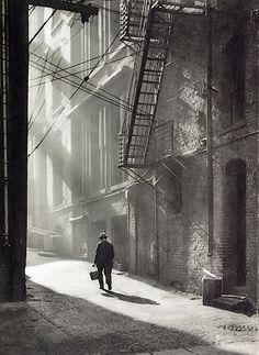 K. Matsuki - Sunlight in the morning, California USA (Japanese colony) , 1926