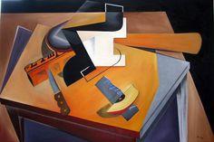 L'Impartial [Cubism-A244] - $500.00 painting by oilpaintingsartmaker.com