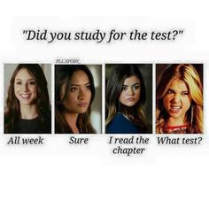 on a scale from Hannah to Spencer, how much do you study??? Comment!