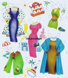 Cyd Charisse paper doll clothes / eBay