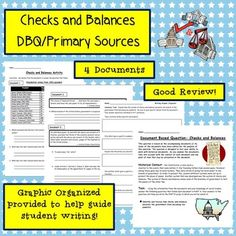 Dbq checklist students social studies and teacher checks and balances writing assignment dbqthere are 2 types of resources included in this activity you can select the one that best fits your fandeluxe Choice Image