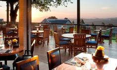 The splendid view that can be enjoyed from the terrace of Indochine, tel. +27.21.8858160. This is one of the two restaurants located inside ...