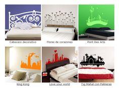 vinilos decorativos para el cabecero de cama