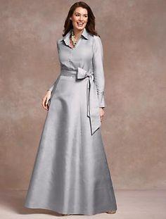 Formal Talbot's dupioni silk dress