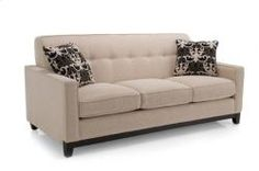 2044 Series Contemporary Track Arm Sofa w/ Tufted Back by Decor-Rest at Stoney Creek Furniture Living Room Sofa, Home Living Room, Living Room Decor, Contemporary Couches, Tufted Sofa, Living Room Inspiration, Cool Furniture, Home Furnishings, Love Seat