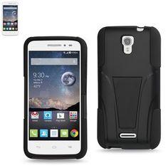 Reiko Silicon Case+Protector Cover Alcatel Onetouch Pop Astro New Type Kickstand Black