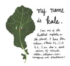 Kale is healthy (and adorable!)
