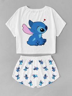 Pin von Yelimar Parra uff Moda im Jahr 2019 Kleidung Mode Outfits Cute Disney Outfits, Cute Lazy Outfits, Teenage Outfits, Outfits For Teens, Pretty Outfits, Disney Clothes, Cute Pajama Sets, Cute Pajamas, Cute Pjs