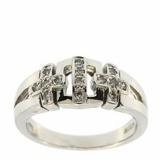 0.20 Cttw F VS Round Brilliant Cut Diamond Cocktail Ring in 14K White Gold by GetDiamondsDirect on Etsy