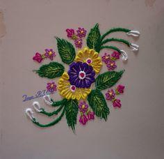 Easy Rangoli Designs Videos, Rangoli Designs Flower, Rangoli Ideas, Colorful Rangoli Designs, Rangoli Designs Images, Beautiful Rangoli Designs, Simple Flower Rangoli, Small Rangoli, Indian Rangoli