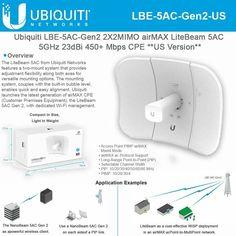 Ubiquiti r5ac-Lite Rocket Lite 5ac 450 Mbit//s Bianco WLAN Access Point ~ D ~