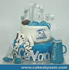 another cake idea... not the Cowboys but the style in red with Wildcats