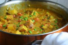 <p>Sweet and spicy due to the turmeric and curry powder as well as hearty and comforting due to the potatoes and other veggie additions. A very tasty dish that is perfect for those who have never had a curry before.</p>