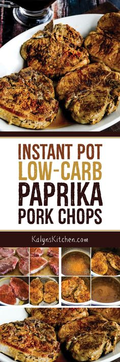 Low Carb Meals These Instant Pot Low-Carb Paprika Pork Chops turn out perfectly in the Instant Pot. These are chops are super juicy and is a delicious main dish for a low-carb meal. Instant Pot Pressure Cooker, Pressure Cooker Recipes, Pressure Cooking, Pressure Pot, Low Carb Dinner Recipes, Keto Recipes, Ketogenic Recipes, Zoodle Recipes, Pescatarian Recipes