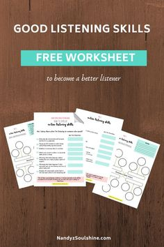 Use this Free 'active listening skills' worksheet to learn how to listen actively because it makes your loved ones feel understood, valued, Mindfulness Psychology, What Is Mindfulness, Mindfulness Exercises, Mindfulness Activities, Good Listening Skills, Active Listening, Skills To Learn, Life Skills, Inspirational Articles