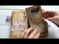 Vintage style junk journal for writing. Pocket size. Available on Etsy.(sold) - YouTube