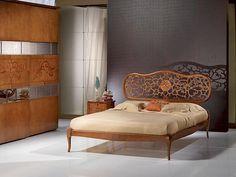 In Massivholz, Eingelegt, Klassischen Stil Bett