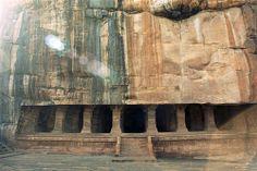 badami - cave three - exterior