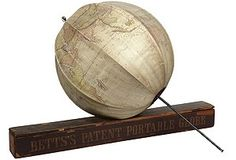 "Portable ""Umbrella'""Globe, dated 1860. Never seen one of these before."