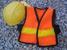 diy child's construction worker vest...tutorial with materials list and step by step directions