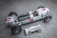 LEGO IDEAS - Product Ideas - Auto Union Type C Racecar - Support this awesome classic racer on Lego Ideas. Lego Cars, Lego Truck, Race Cars, Lego Auto, Technique Lego, Bentley Continental Gt Convertible, Ram Power Wagon, Lego Machines, Auto Union
