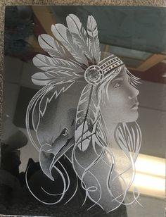 Sandblasted Glass, Etched Glass, Glass Etching, Engraving Art, Glass Engraving, Glass Pool Tile, Glass Awards, Dremel Carving, Ganesha Art