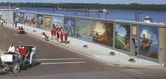 Went to Paducah, KY last week and enjoyed the flood wall murals depicting the history of the city.