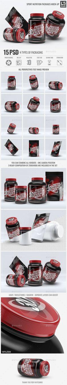 Sport Nutrition Packages Mock-Up. Download here: http://graphicriver.net/item/sport-nutrition-packages-mockup/15376473?ref=ksioks