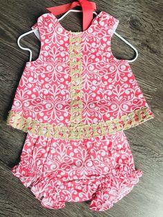 db9021b84a0d NWT Mud Pie Baby Girls Size 6-9 Mo Pinafore #fashion #clothing #