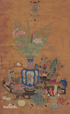 Qian Xuan(錢選)。Qian Xuan, Dinastía Song