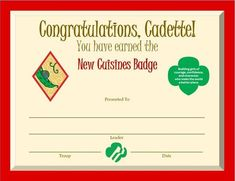 Cadette Science of Happiness Badge Certificate Girl Scout Leader, Girl Scout Troop, Girl Scouts, Cadette Girl Scout Badges, Cadette Badges, My Promise My Faith, Girl Scout Levels, Science Of Happiness, Girl Scout Activities