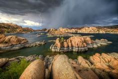Thunderstorm approaching Watson Lake, Arizona