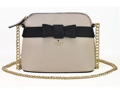 Sarah Birds Boutique - Elsa Bow Front Small Shoulder Bag in Beige with Gold Chain Strap, £18.99 (http://sarahbirdsboutique.co.uk/elsa-bow-front-small-shoulder-bag-in-beige-with-gold-chain-strap/)