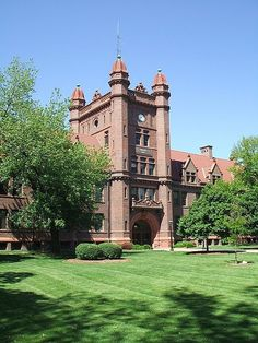 Shilling Hall at Millikin University in Decatur, Illinois; this building was dedicated by President Theodore Roosevelt