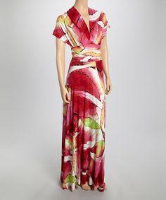 Pink Floral Convertible Wrap Dress by Body Language #zulily #zulilyfinds