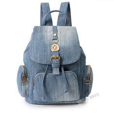 Cheap denim backpack, Buy Quality fashion women backpack directly from China women backpack Suppliers: Jiessie & Angela Girls Retro Denim Backpack Fashion Preppy Trendy Style Denim Cotton Women Backpacks Travel Bags School Jean Backpack, Backpack Travel Bag, Backpack Purse, Fashion Backpack, Travel Bags, Canvas Backpack, Cute Backpacks, Girl Backpacks, School Backpacks