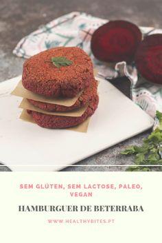 Receita de Hambúrguer de Beterraba Salty Foods, Carne, Vegetarian Recipes, Health Fitness, Low Carb, Gluten, Meat, Breakfast, Drinks
