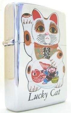 Lucky Cat Zippo lighter