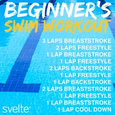 Hot summer days are perfect for swimming! New to the pool? Try this beginner workout. #workout #swimming