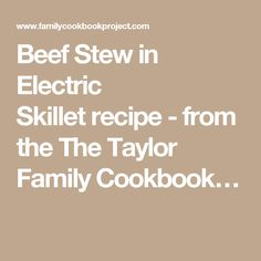 Recipe Electric Skillet Temperature And Cooking Times