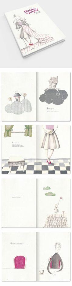 Ilustración by Nuria Diaz: Avións de papel