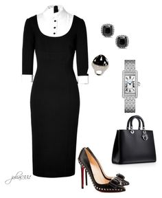 """""""Untitled #1042"""" by julia0331 ❤ liked on Polyvore featuring Christian Louboutin and L'Wren Scott"""