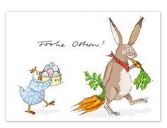 Krima /& Isa Postkarte Eulen 'Viele Grüße'