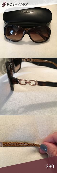 Coach Beatrice sunglasses- brown EUC Coach sunglasses only worn a few times!! Come with case and cloth. Brown gradient lenses Coach Accessories Sunglasses
