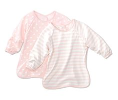 Bryndáčky s rukávky, růžovo-bílé, 2 ks