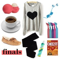 9 essentials for finals week Lip balm A comfortable, over-sized sweater Ear buds Coffee Hair ties Moccasin slippers Cotton leggings Dry shampoo Your favorite snack Definitely keeping this in mind! 20 more days until my finals! Finals Week College, College Life, Spring 2015 Fashion, Autumn Fashion, Lazy Day Outfits, College Survival, Cotton Leggings, Girl Day, School Fashion