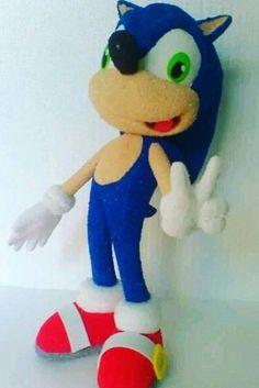Escultura de Sonic textura gamuzada