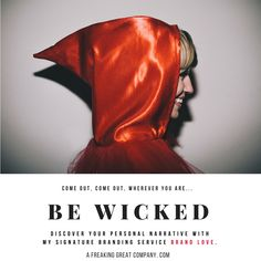BE WICKED PERSONALITY BRAND #branding #personalbranding #personalitybrand #wicked #bewicked #wickedhood #redhood #prettysmile #mysterious #happy