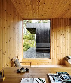 An architect recasts a 1960s artist's retreat in southeastern Norway. The 1950s desk in the office is from the original house; the chair ...